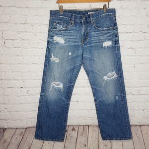 AG Adriano Goldshmied Boyfriend Jeans Distressed